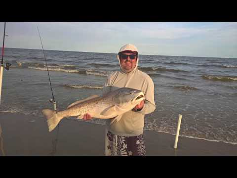 Drone Fishing Texas Catching Monster Redfish at Bolivar Peninsula
