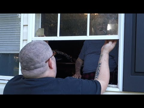 HE LOCKED US OUT OF THE HOUSE!