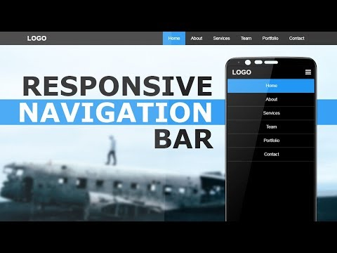 Responsive Navigation Bar With Html  CSS and Javascript -  Responsive Sidebar Menu For Mobile