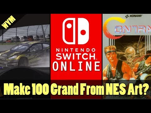 Earn 100 Grand for NES Art, Nintendo Online Launch Date, Nascar Driver Suspended from iRacing