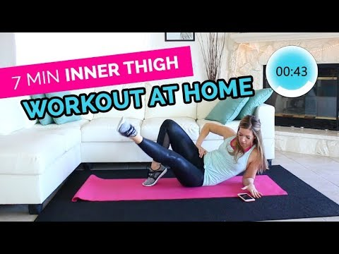 7 min Inner Thigh Workout for Women AT HOME