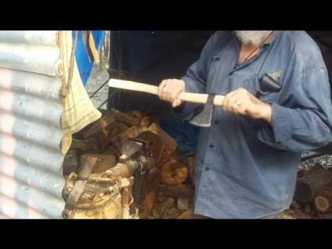 Making A Tomahawk Helve.