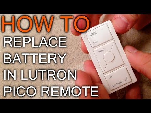 How to Change Battery in Lutron Pico Remote