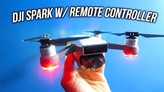 DJI Spark w/ Remote Controller Unboxing • First Time Flying A Drone!