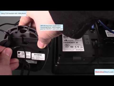 How To Use Plantronics CS50 Wireless with Avaya 1408 phone