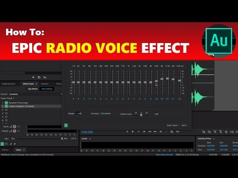 Adobe Audition How to Make a Radio Sweeper Voice Over – Awesome Adobe Audition Radio Voice Effect