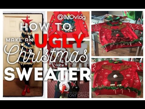 How to make an UGLY Christmas Sweater for under $20 DIY