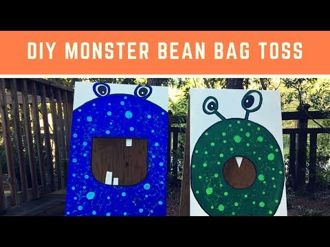 How to Build a Kid's Halloween Monster Bean Bag Toss