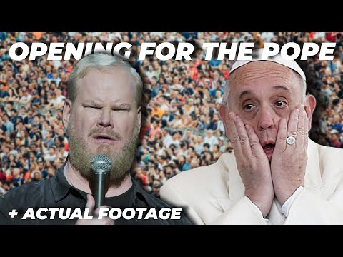 Doing stand up for the Pope + ACTUAL FOOTAGE from the event (Pope Compilation)