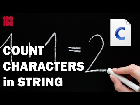 Programming in C: Count characters in string