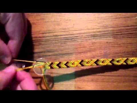 Friendship bracelet button fastener