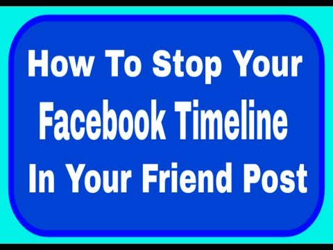 How to prevent your friends from posting on your facebook account Timeline