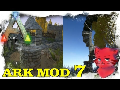 STAIRS MOD WITH ROUNDED WALLS # 7  - ARK SURVIVAL EVOLVED