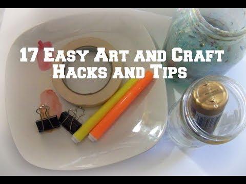 17  Art and Craft Hacks and tips/ DIY Art Hacks
