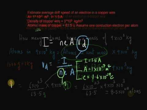 Drift Velocity and Electric Currents (Part 2)