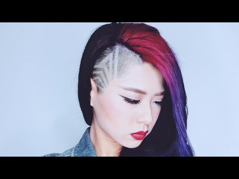 Undercut hairstyle / Half-shaved / DIY clipper lines design
