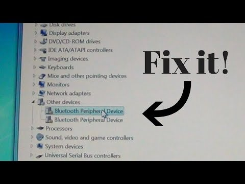 How to fix missing driver for Bluetooth Peripheral Device