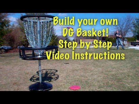 How to Build a Disc Golf Basket Step by Step Video Instructions