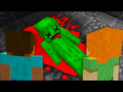 STEVE AND ALEX MINECRAFT - THE END OF MINECRAFT PICKLE STEVE GETS KILLED (DON'T WATCH)