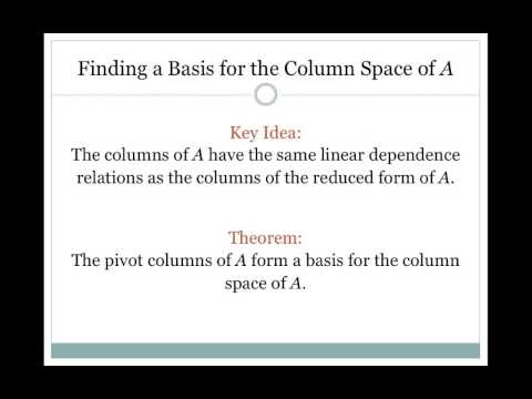 2.8 Column Space of a Matrix