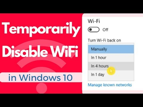 How  To Temporarily Disable WiFi in Windows 10