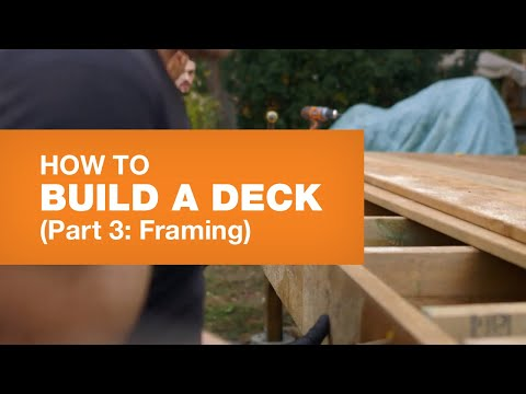 HOW TO BUILD A DECK PART 3: FRAMING