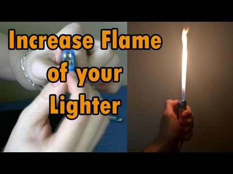 How to INCREASE FLAME of your LIGHTER || HOW TO STEP BY STEP TUTORIAL