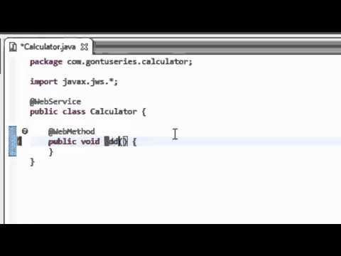 Web Services Part 4 - How to create SOAP Web Services (Hands on using Eclipse)
