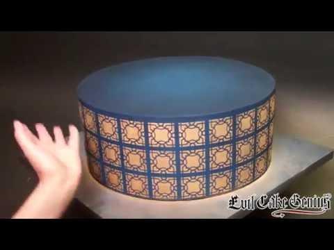 Moroccan Lattice Cake Stencil