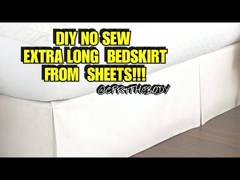 No Sew Bedskirt  Hack From Sheets.