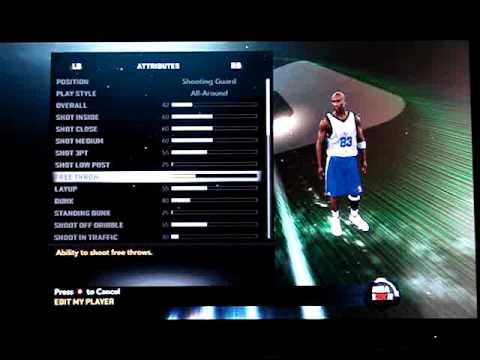 NBA 2k11: How to create Michael Jordan in My Player