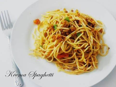 Spicy Keema Spaghetti | Easy Spaghetti with mince beef sauce