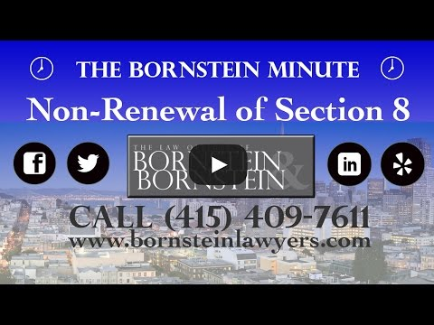 Non-Renewal of Section 8 Notices - The Bornstein Minute