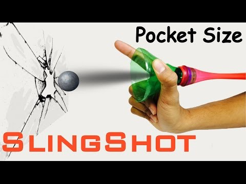 How To Make Pocket Size SLINGSHOT at home | POWERFUL