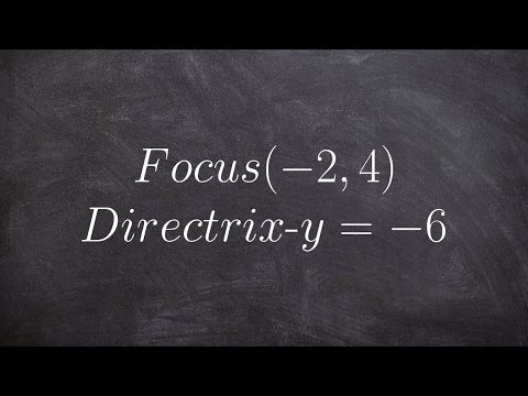 Write the equation of a Parabola in standard form given the focus and directrix