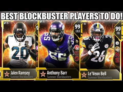 WHICH BLOCKBUSTER PLAYERS SHOULD YOU GET! BEST BLOCKBUSTERS TO DO! | MADDEN 18