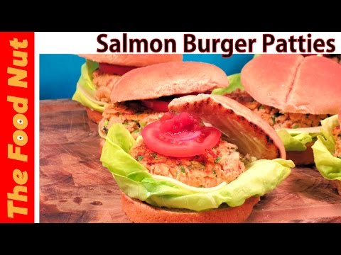 Canned Salmon Burger Recipe - How To Make Easy Vegetarian Salmon Fish Patties | The Food Nut