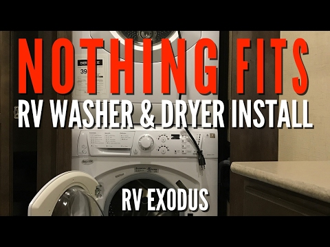 Full Time RV Living | Installing a Stackable Washer & Dryer in our KZ Venom 3911TK Fifthwheel