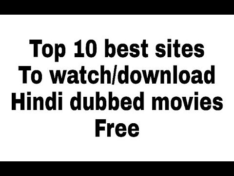 hindi dubbed  movies sites