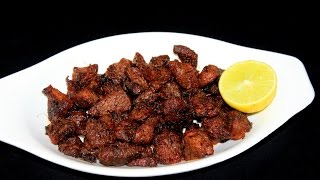 mutton fry recipe-mutton sukka-fried mutton-how to make mutton fry-hyderabadi tala hua gosht