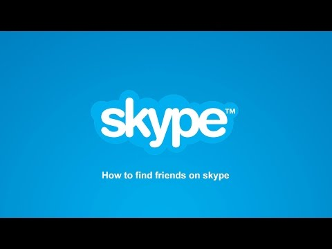 How to find friends on skype