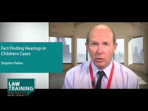 Fact Finding Hearings in Childrens Cases - On-Demand Webinar Preview