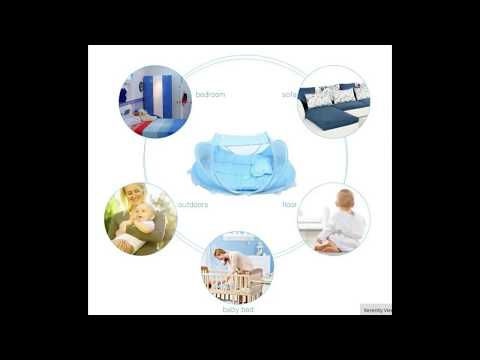 Baby Portable Foldable Crib With Mosquito Net