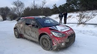 Tests Craig Breen Rallye Monte-Carlo 2017 DS3 WRC [HD]