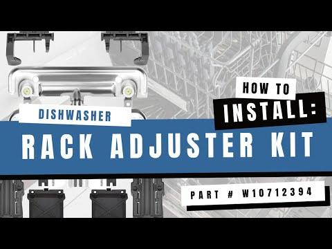 Whirlpool W10712394 Dishwasher Dishrack Adjuster Repair