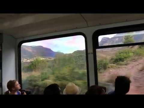 Spain, Montserrat, Cogwheel Train Ride, Mountains View