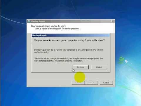 Windows 7 : repair windows 7 boot