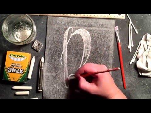 SheShe Design Chalk Script Lettering UPPERCASE R