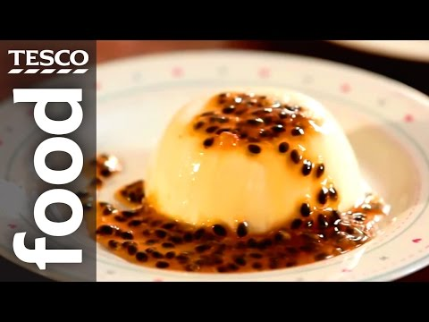 How to Make Vanilla Panna Cotta with Passion Fruit Sauce | Tesco Food