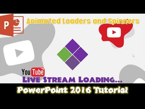 Simple Animated Loader and Spinner | PowerPoint 2016 Tutorial For Beginners